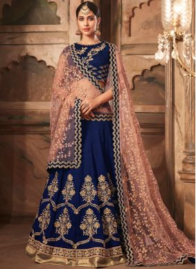 Praiseworthy Blue Trendy Lehenga Choli