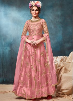 Praiseworthy Resham Floor Length Anarkali Suit