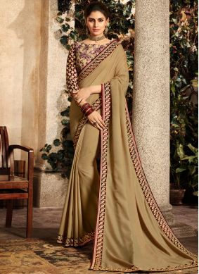 Prepossessing Beige Saree