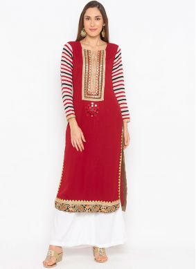 Prepossessing Faux Georgette Festival Party Wear Kurti