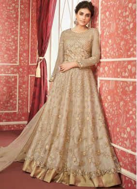 Prepossessing Satin Silk Resham Trendy A Line Lehenga Choli