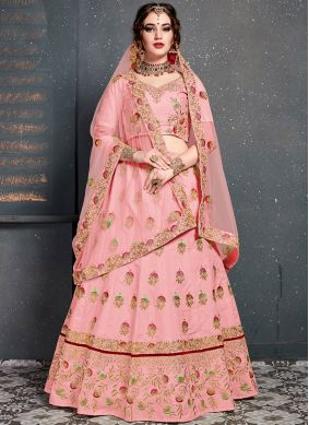 Pretty Embroidered Silk Designer Lehenga Choli