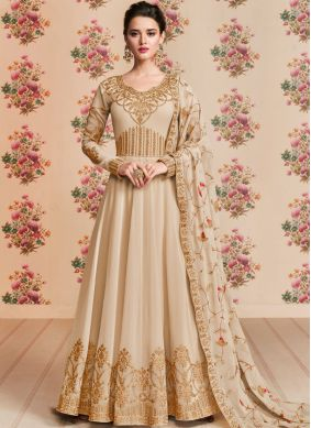 Pretty Georgette Embroidered Anarkali Salwar Kameez