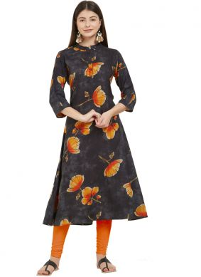 Princely Multi Colour Rayon Party Wear Kurti
