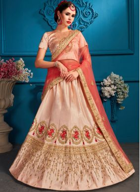 Princely Satin Wedding Lehenga Choli