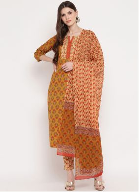 Print Cotton Multi Colour Readymade Suit