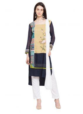 Multi Colour Printed Readymade Salwar Kameez