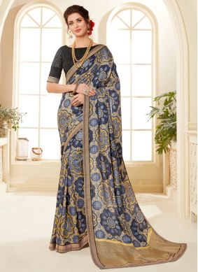 Prominent Abstract Print Multi Colour Printed Saree