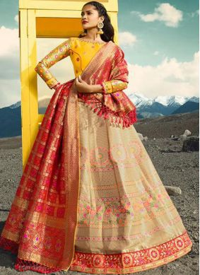 Prominent Embroidered Lehenga Choli