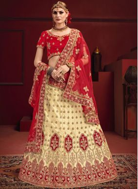 Prominent Red Designer Lehenga Choli