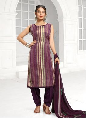Purple Color Bollywood Salwar Kameez