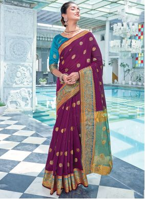 Purple Color Traditional Saree