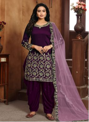 Purple Designer Patiala Suit