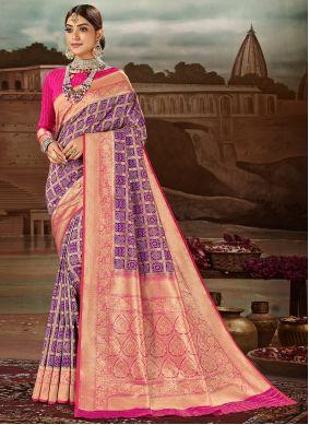 Purple Engagement Traditional Designer Saree