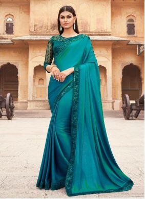 Rama Silk Embroidered Traditional Designer Saree