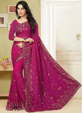 Rani Georgette Ceremonial Classic Saree