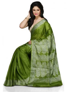 Ravishing Green Designer Traditional Saree