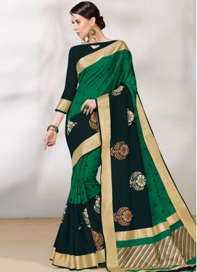 Ravishing Green Traditional Saree