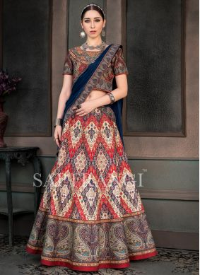 Ravishing Print Multi Colour Lehenga Choli