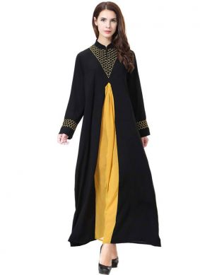 Rayon Embroidered Salwar Suit in Black