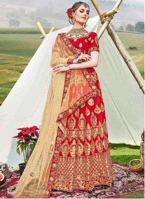 Red Color Trendy Lehenga Choli