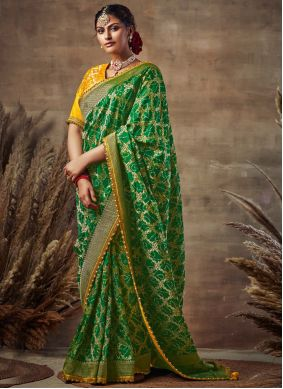 Red Fancy Fabric Embroidered Designer Traditional Saree
