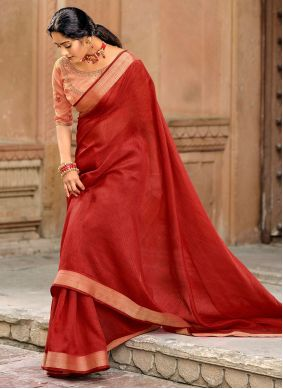 Red Fancy Traditional Saree