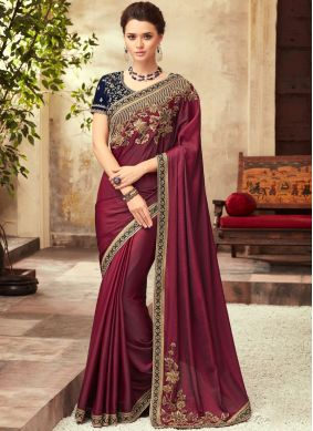 Red Festival Silk Designer Saree