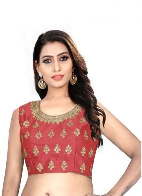 Red Mehndi Blouse