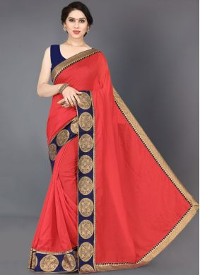 Red Silk Border Casual Saree