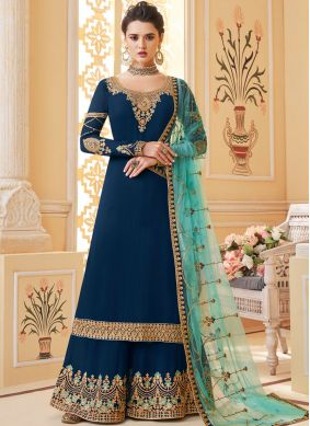 Refreshing Designer Palazzo Salwar Suit For Ceremonial