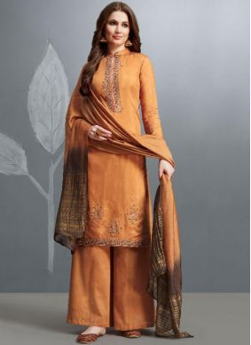 Refreshing Palazzo Designer Salwar Kameez For Ceremonial