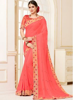 Refreshing Patch Border Traditional Saree
