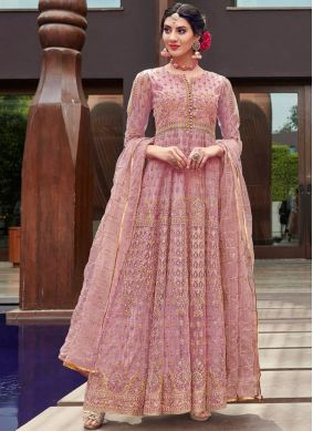 Renowned Embroidered Net Designer Gown