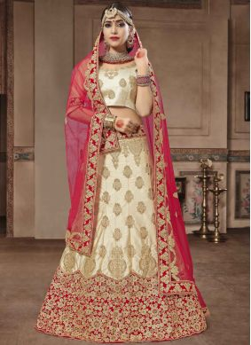 Renowned Patch Border Satin Silk Lehenga Choli