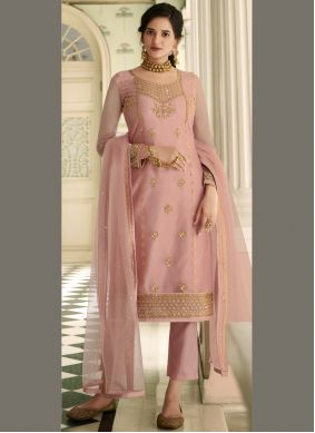 Resham Pink Pant Style Suit