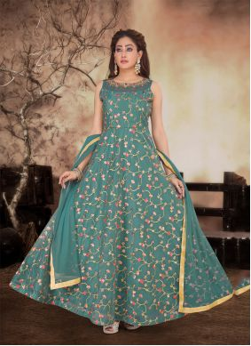 Resham Reception Anarkali Salwar Kameez