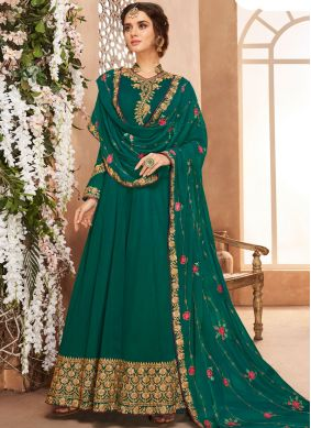 Riveting Georgette Anarkali Salwar Kameez