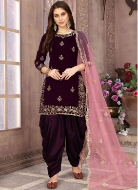 Riveting Patiala Salwar Suit For Party