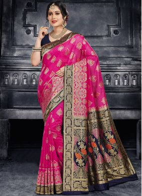 Rose Pink Ceremonial Silk Classic Saree