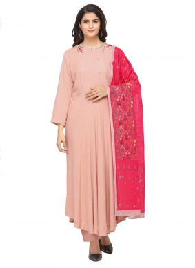 Rose Pink Party Salwar Suit