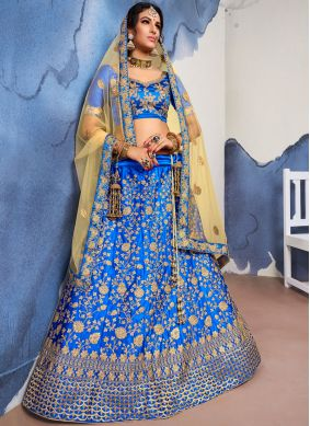 Royal Blue Wedding Trendy Lehenga Choli