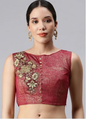 Rust Embroidered Designer Blouse