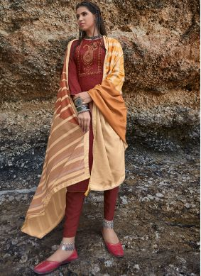 Rust Party Salwar Suit