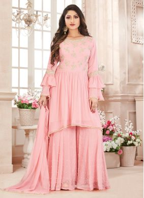 Pink Salwar Suit For Engagement