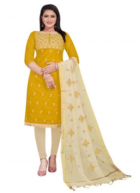 Yellow Salwar Suit For Festival