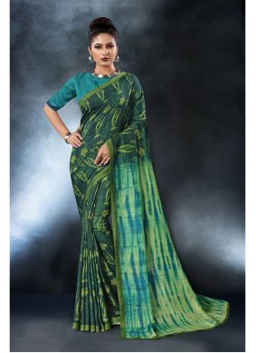Green Saree For Engagement
