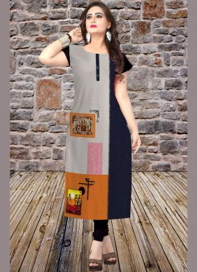 Scintillating Multi Colour Casual Kurti