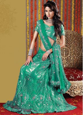 Sea Green Fancy Lehenga Choli