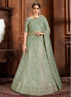 Sea Green Sangeet Designer Lehenga Choli